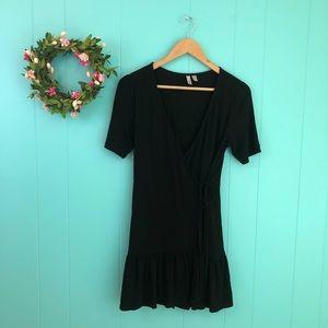 ASOS Peplum Hem Mini Wrap Dress